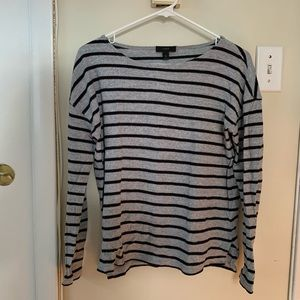 Boat neck long sleeve t-shirt